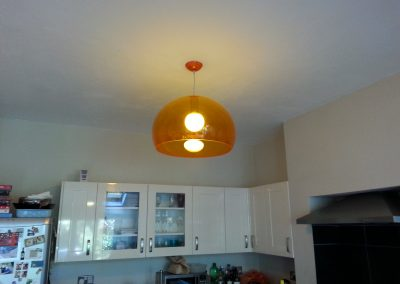 Orange perspex lighting in Forest Hill