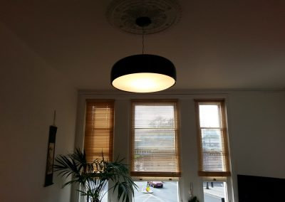 Italian light fitting hung in Herne Hill
