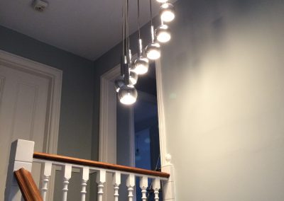 1970s retro light fitting in hallway West Dulwich