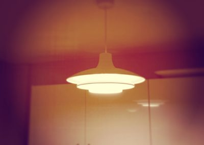 Lighting above dining table in Dulwich